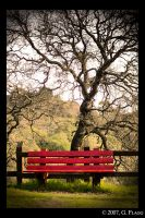 Red Bench by MrFunnyPants