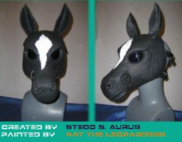 Painted Gas Mask: Horse Design by Catwoman69y2k