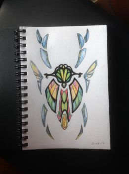 Scarab sketch by AquaVarin
