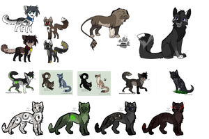 5 Point Adoptables LEftovers by FoolsCourage