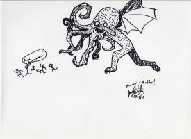 RAWR CTHULHU by MommaCabbit
