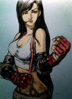 Tifa Lockhart on sketchbook 2 Coloured by DarshRenren