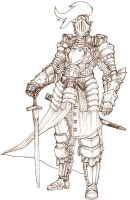 half plate suit of armor by Art-Calavera