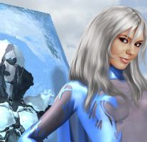Ms. Frost detail by D. Shuler by Dark-Ether