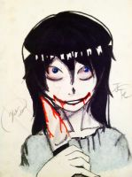 Jeff the Killer::Nightly Sketch:: by hetaliagirl101