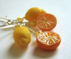 Citrus Freshness Earrings by PetitPlat