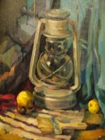 still life with a lamp by Xenys