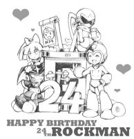 Happy 24 th Birthday Rockman by whitmoon