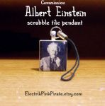 Einstein pendant commission by ElectrikPinkPirate