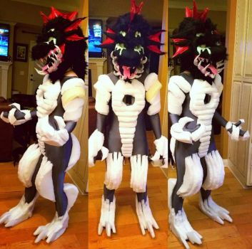 WIP: Grime Fursuit by RageandRoarCustoms