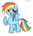 Filly Rainbow Dash by Leslers