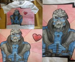 Garrus hand painted t-shirt 2 by IfWereLost