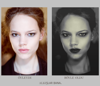 Before-After Freja by corilessa