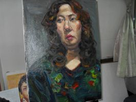 3 hours oil painting 11 by curryQ