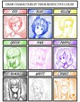 Color meme with mostly my OCs by madkoog