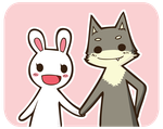 Wolf and Bunny by Yume-fran