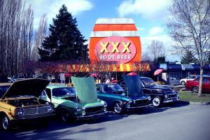 Volvo's at the Drive In by qmorley
