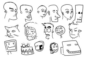 Faces exercise 001 by mayuzane