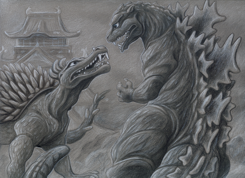 Godzilla Raids Again by tin-tower