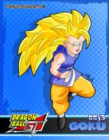 Goku Ssj3 DBGT card by edwinj22
