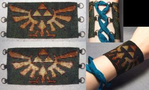 Updated Hylian Royal Crest Corset Cuff by wickedorin