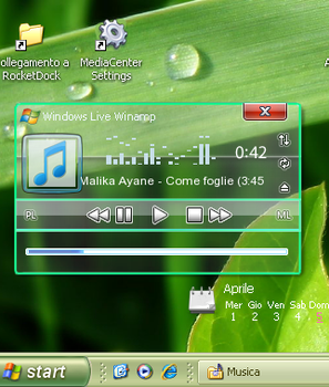 Live winamp compact skin by puglialemon