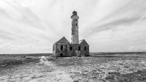 Old Lighthouse - Klein Curacao - BW Version by ssabbath