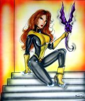 Shadowcat and Lockcheed by BiancaThompson