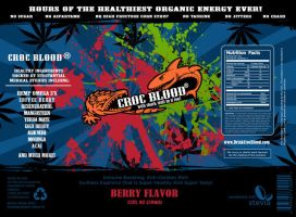 CrockBlood energy drink lable by TimothyGuo86
