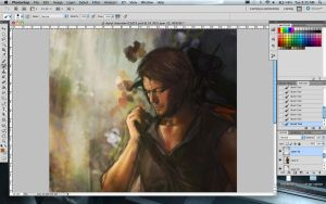 wip: Daryl and Cherokee rose by Brilcrist