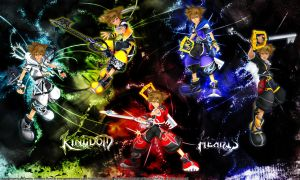 Sora and his Drive Forms by Zam0ra
