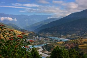 Post Card View from Bhutan by ernieleo