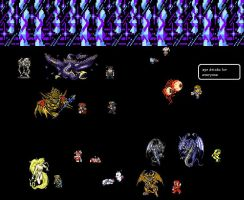final fantasy pixel party by gilgamesh111