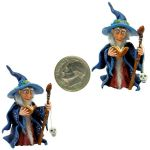 WITCH WIZARD SPOOKY SPELL BOOK FAIRY MAN by WEE-OOAK-MINIATURES