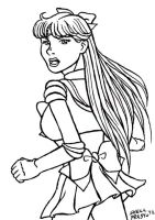 Sailor Venus sketch card inks by shellpresto