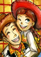 Woody and Jessie .ACEO. by Daishota