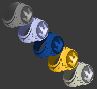 [Model Preview] KH2 Accessories - Rings type 4 by makaihana975