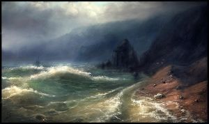 Stormy beach study by ChrisDrake1987