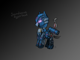 Soundwave and Lazerbeak by PoniesOfTheKeene