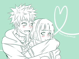 Warm-up Hug - NaruHina by nyxxeii