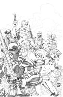GI Joe team  pencils by thejeremydale