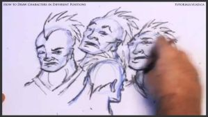 Learn to draw characters in different positions 25 by drawingcourse
