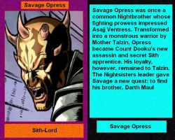 Files of Evil: Savage Opress by DarthVaderXSnips