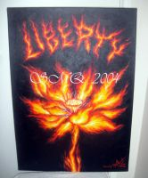 Liberty fire lotus - esoteric by sofia Metal Queen by SOFIAMETALQUEEN