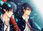 Ao no Exorcist - Okumura Brothers by YungMoneyChow