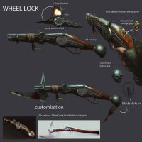 Wheellock17th century pistol concept. by JohnMcCambridge