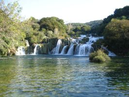 Krka waterfalls II by two-ladies-stocks