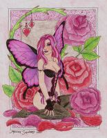 Flower Faeries: Rose by LuthienNightwolf