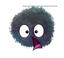 Shocked soot sprite by SuzyQ2pie