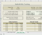 NaNoWriMo Word Count Spreadsheet - Excel by thorns